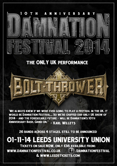 Bolt Thrower Damnation Fest 2014